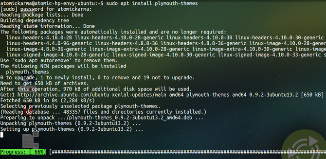 Install plymouth-tools on Ubuntu
