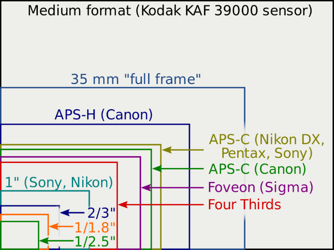 A Beginner's Guide To Digital Photography sensor sizes