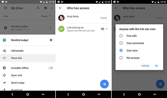 android google drive features