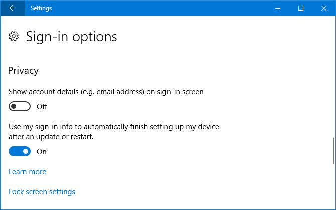 9 New Settings Features in the Windows 10 Fall Creators Update sign in options