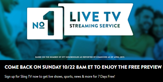 How to Watch Sling TV for Free This Sunday sling tv