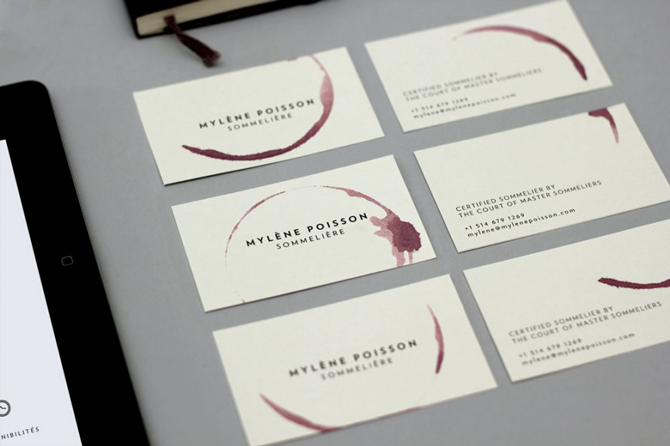 design business card illustrator sommelier