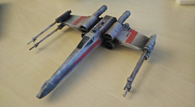 3d print star wars props x wing fighter