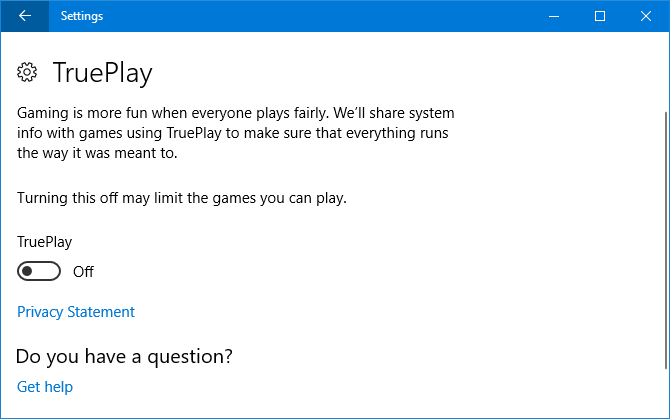 9 New Settings Features in the Windows 10 Fall Creators Update trueplay