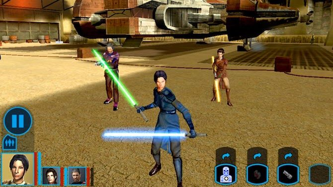 star wars knights of the old republic console game to mobile