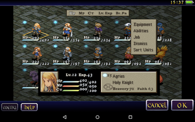 final fantasy tactics console game to mobile