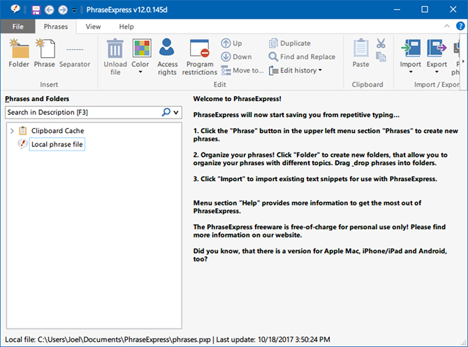 7 Free Windows Tools to Automate Repetitive Tasks windows utility phraseexpress text expander