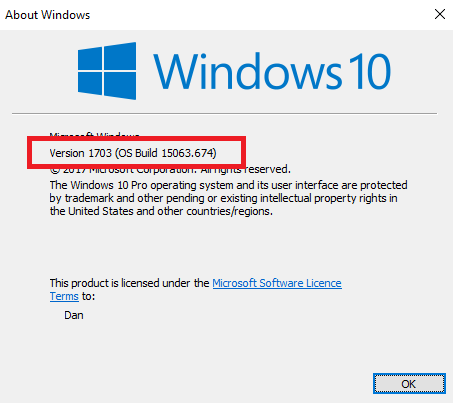 Windows 10 Build 1511 Support Ends: Here's What to Do to Avoid Security Issues winver