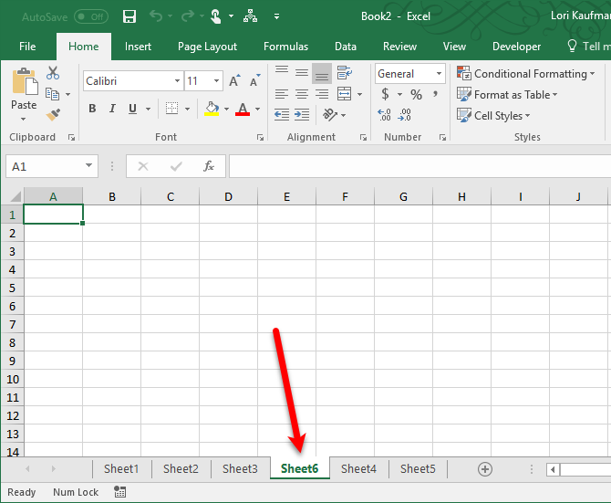 add an excel worksheet