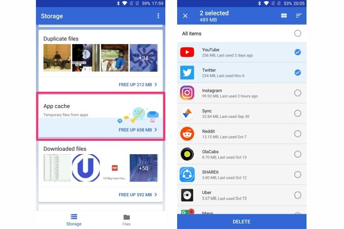 features of google files go app