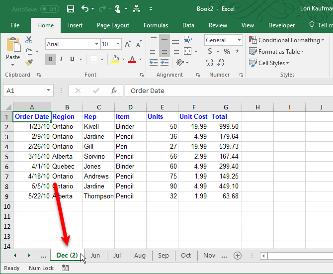 copy an excel worksheet tab