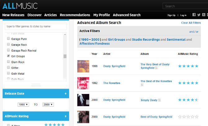 The Internet Music Guide for the Audiophile 14 AllMusic Discover
