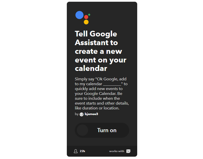 The Ultimate IFTTT Guide: Use the Web's Most Powerful Tool Like a Pro 18IFTTT GoogleAssistantAddEvent