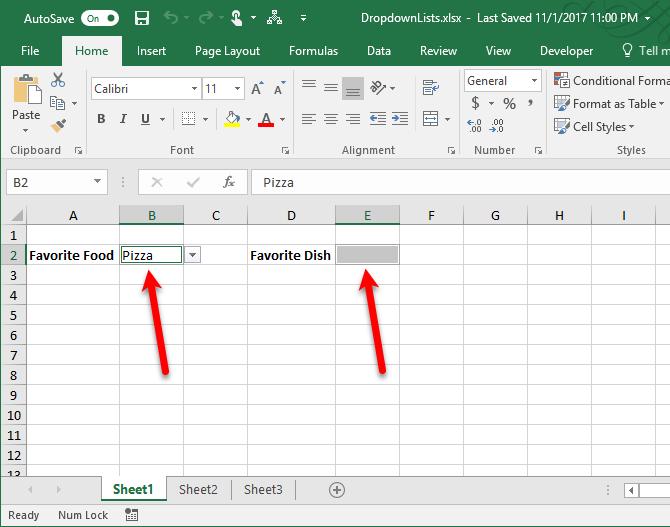 создать выпадающий список в Excel