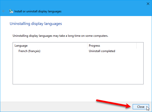 how to change system language in windows 10