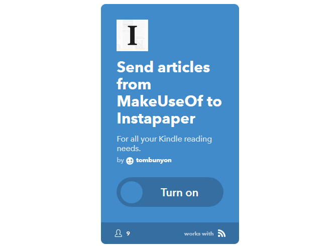 The Ultimate IFTTT Guide: Use the Web's Most Powerful Tool Like a Pro 38IFTTT MUOToInstapaper