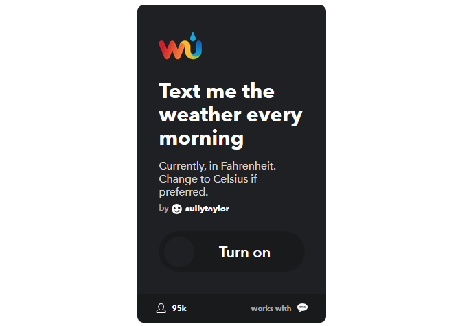 The Ultimate IFTTT Guide: Use the Web's Most Powerful Tool Like a Pro 3IFTTT TextWeather