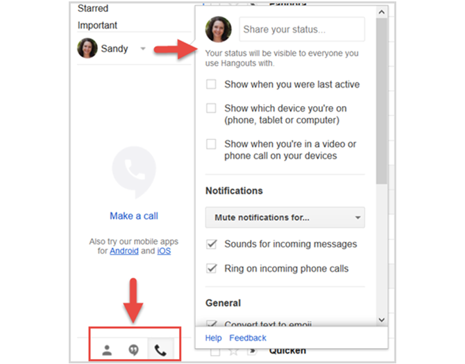how to make long distance calls from gmail