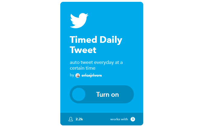 The Ultimate IFTTT Guide: Use the Web's Most Powerful Tool Like a Pro 9IFTTT TimedDailyTweet