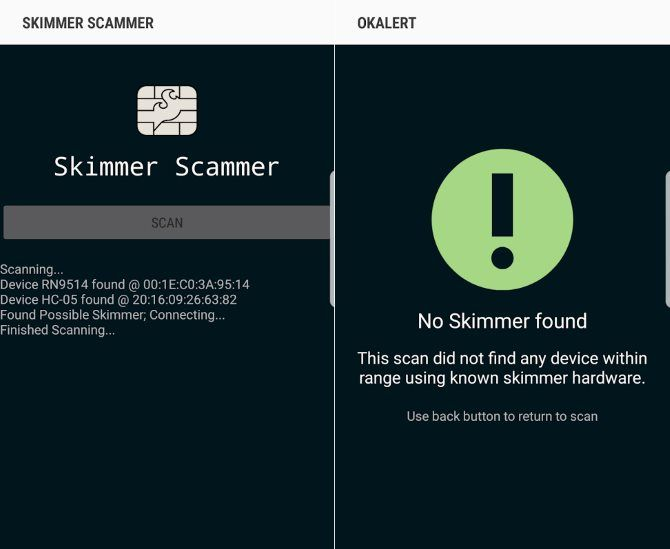 Avoid Falling Victim to Card Skimmers With This Android App Android Skimmer Scanner