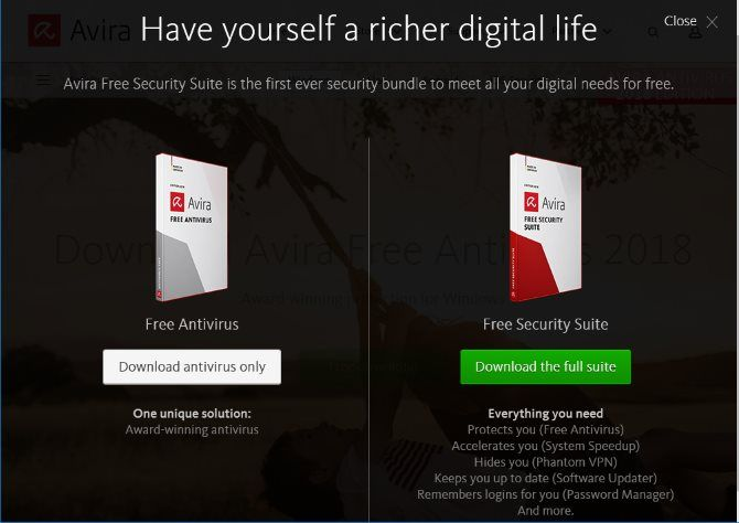 top free antivirus apps no nag screens avira free