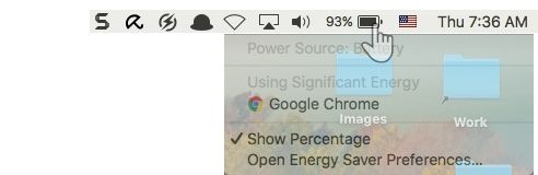 Battery Status on Mac