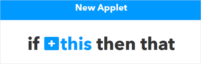 The Ultimate IFTTT Guide: Use the Web's Most Powerful Tool Like a Pro CreateApplet 1