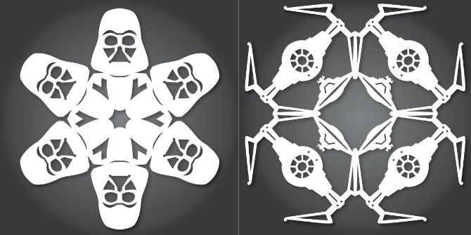 10 Christmas Decorations You Can Easily Make From Recycled Materials Darth tie snowflakes 670