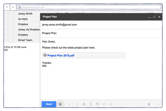 dropbox gmail extension