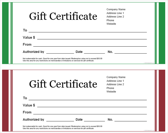 Get a Free Gift Certificate Template for Microsoft Office