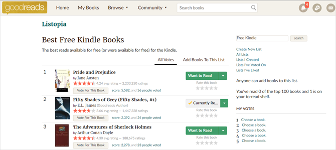 How to find infinite free kindle books to read infinite free kindle ebooks goodreads fandeluxe Image collections