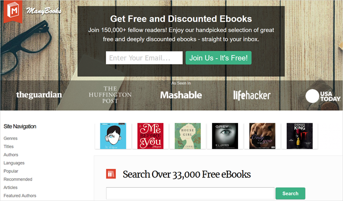 4 Sites With LOTS Of Completely Free Ebooks That Don't Suck ManyBooksMain