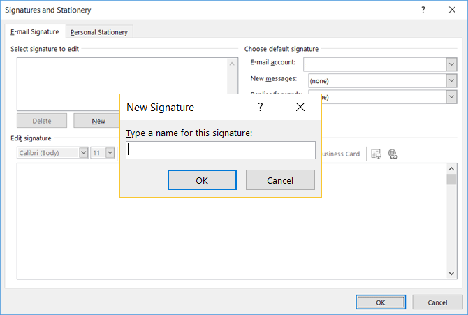 how to change your email signature in outlook