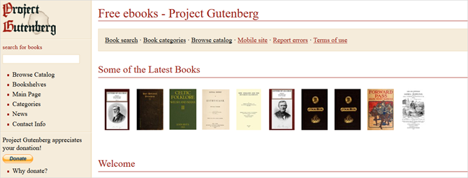 4 Sites With LOTS Of Completely Free Ebooks That Don't Suck ProjectGutenbergMain