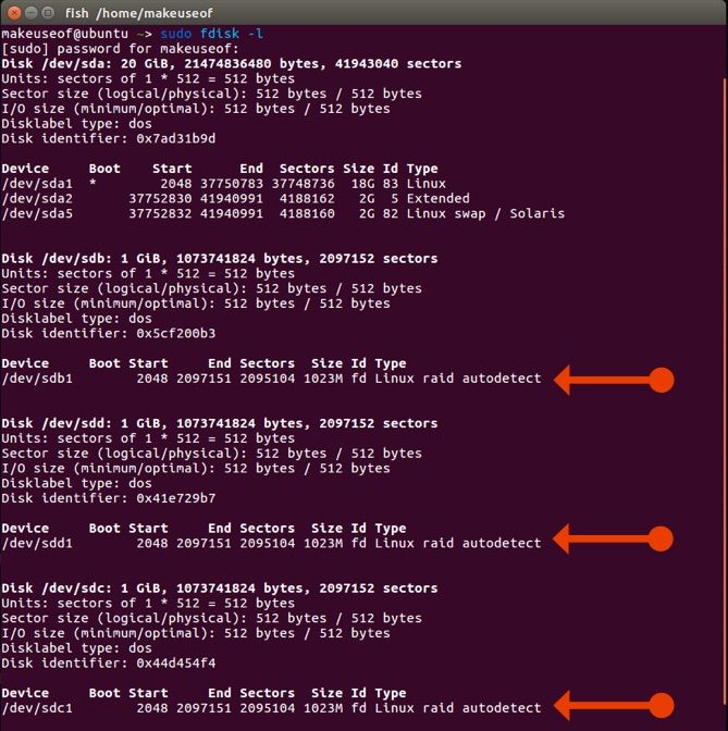 configure raid hdd array linux
