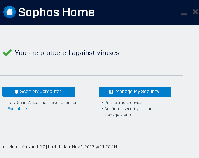top free antivirus apps no nag screens sophos home