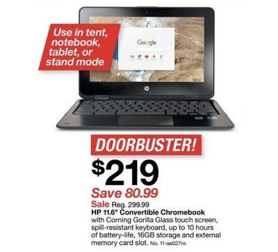 Best Target Black Friday Deals Target BlackFriday HPChromebook