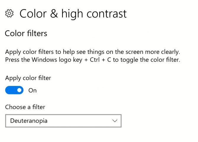 Colorblind Windows Users: Try This Trick to Better Distinguish Colors WIndows10 Colorblindness e1510768851988
