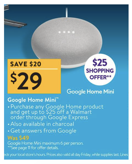 Best Walmart Black Friday Deals Walmart Google Home Mini Black Friday