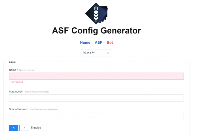 asf-config-generator-screenshot