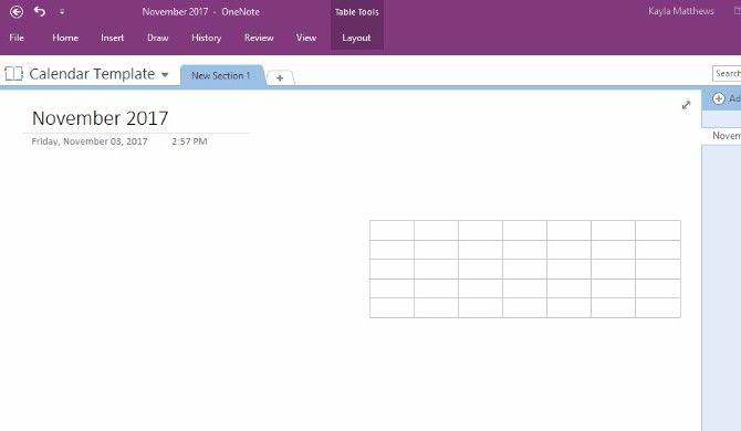How To Create A Onenote Calendar Template