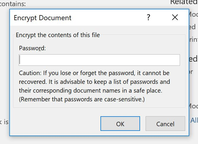 password protect excel file
