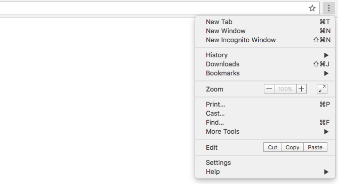 The Easy Guide to Google Chrome chrome menu 670x366