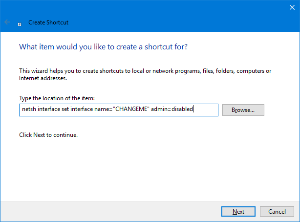 Windows 10 Create Keyboard Shortcut