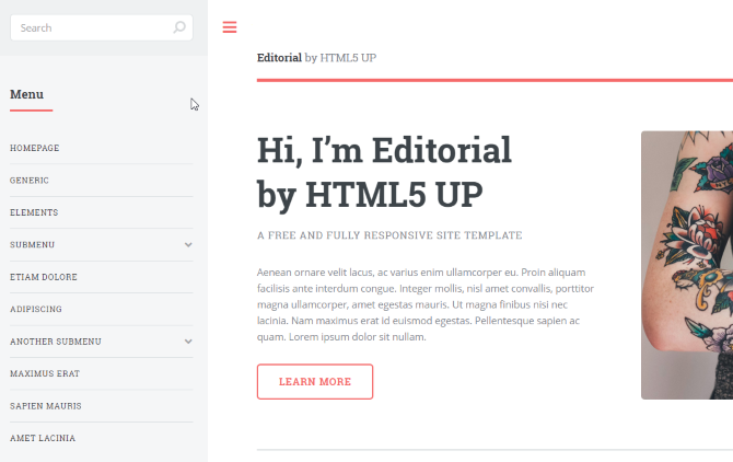 awesome html templates