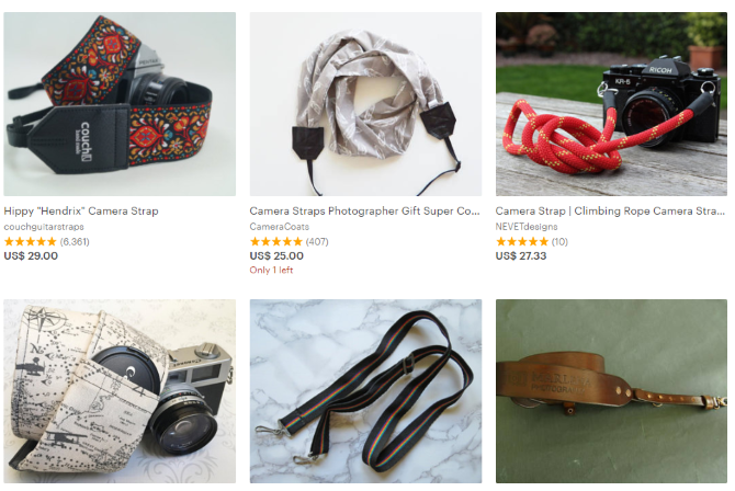 10 Great Gifts For Photographers Etsy Camera Straps