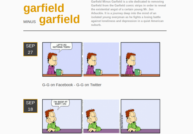20 Fun Things to Do Online When You're Bored at Work garfield minus garfield screenshot