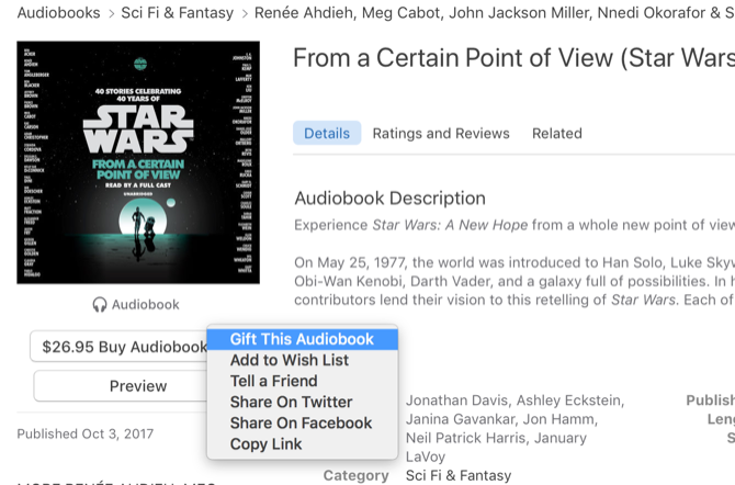 give audiobook gifts apple itunes