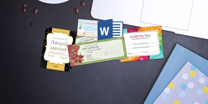 A Free Gift Certificate Template For Microsoft Office