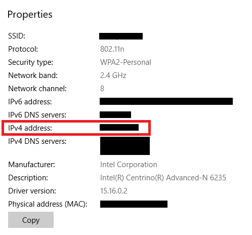 How to Find Your IP Address on Windows 10 ip address win10 settings